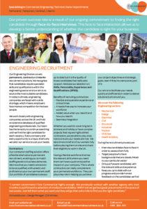Engineering brochure page
